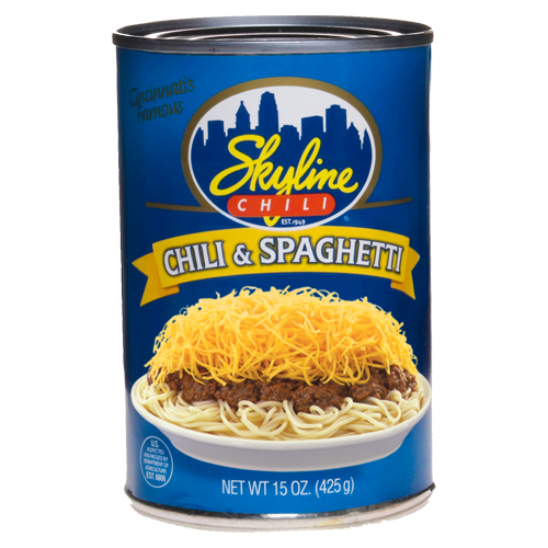 Canned Chili & Spaghetti 15 oz.