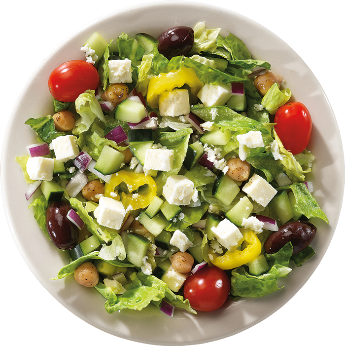 Skyline's Greek Salad is topped with our original Greek Salad dressing.