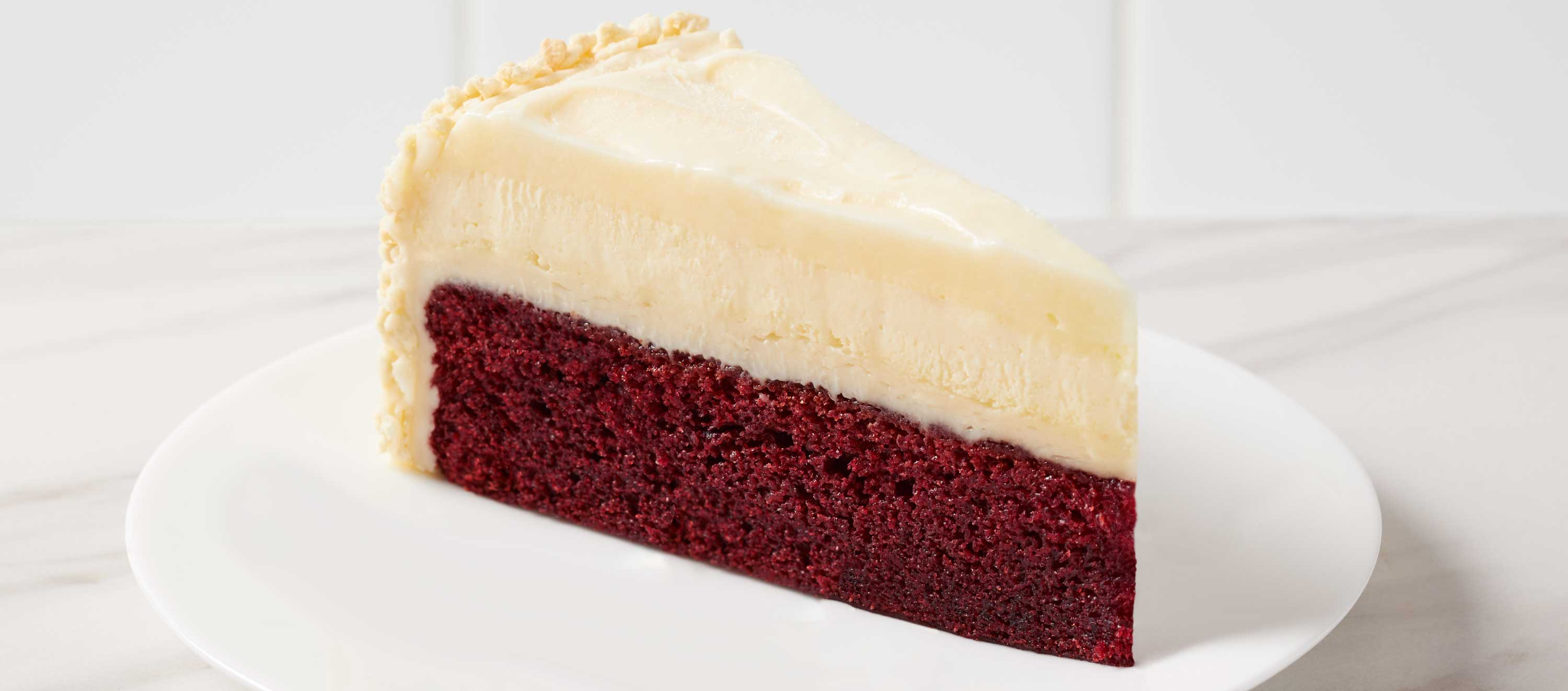 Come try this incredibly delicious Red Velvet Cake Cheesecake from The Cheesecake Factory Bakery.®